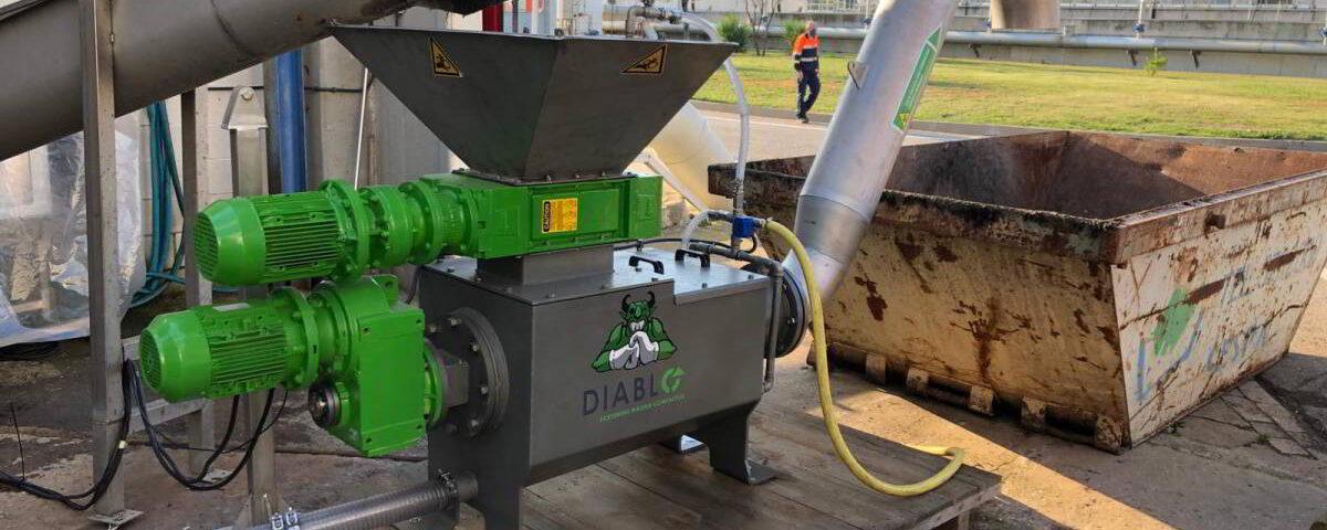 Unidad de triturado, lavado y compactado de residuos Diablo